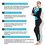 COPOZZ Mens Womens Rash Guard, Full Length Thin Wetsuit for Watersport Surfing Sailing Diving Swimming Snorkeling, Lycra Long UV Protected Stretchy Comfy Diving Skin Swimsuit Keep Warm Under Water