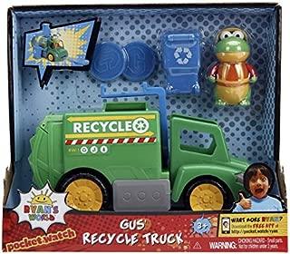 Ryan World Kids Boys (1) Gus The Gator Recycle Truck (1) Mystery Slime (1) Clip on Gus (1) Bonus Mini Bella Splash Ball Bundle of 4