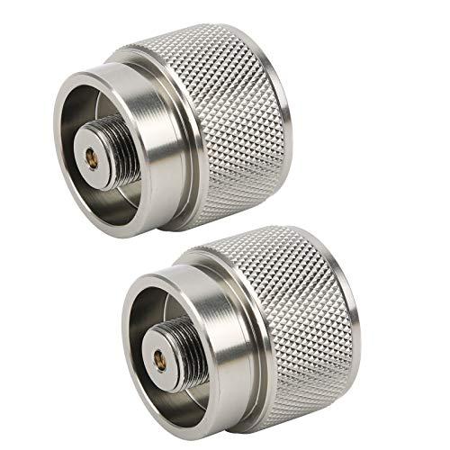 SALUTUYA Adaptador de Gas propano de aleación de Aluminio portátil, Ligero, 2...