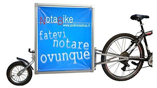 Polironeshop NOTABIKE Carrello rimorchio pubblicità pubblicitario per Bici Bicicletta