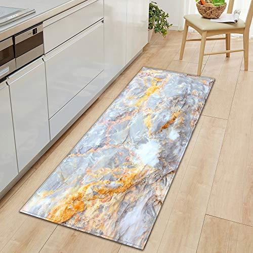 HLXX Alfombra de Cocina Alfombra de Entrada para el Dormitorio Pasillo para el hogar Decoración del Piso Alfombra para Sala de Estar Grano de Madera Alfombra Antideslizante para baño A22 60x90cm