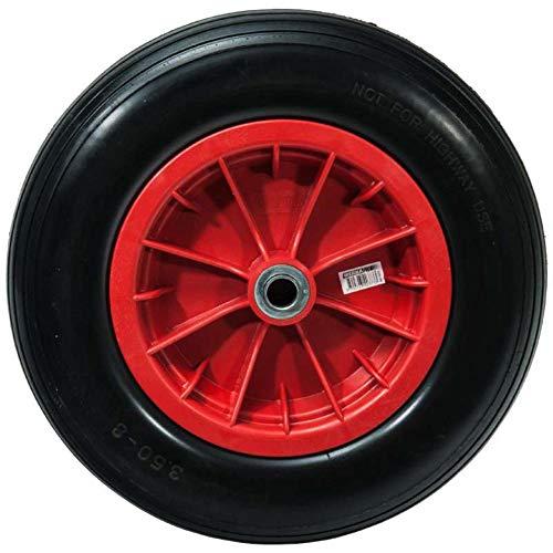 WerkaPro 10373 - Roue Increvable 14'' - 360 x 85 mm - Alésage 20 mm - Pour Brouette ou Remorque Jardin