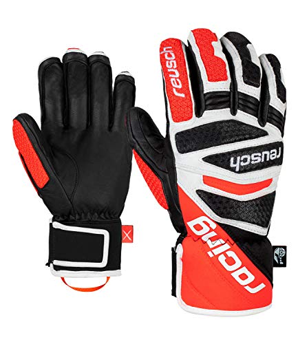 Reusch Herren Worldcup Warrior Dh Handschuhe, Black/White/Fluo red, 8