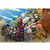 Puzzle - Naruto 300/500/1000/1500 Piezas For Adultos Rompecabezas Juguete Animado De Regalo De Cumpleaños WH Puzzle Shop (Color : A, Size : 1000PC)