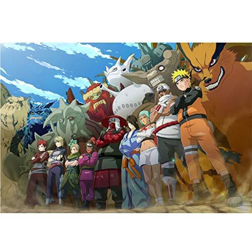 Puzzle - Naruto 300/500/1000/1500 Piezas For Adultos Rompecabezas Juguete Animado De Regalo De Cumpleaños WH Puzzle Shop (Color : A, Size : 300PC)