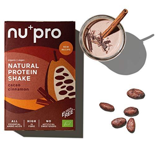 nupro Veganes Bio Proteinpulver -Kakao Zimt- Ganzheitlicher Eiweiß Shake aus Pflanzlichen Proteinen zur Versorgung von Muskulatur & Darmflora [Ohne Soja, Aromen oder Süßstoff|3x200g]