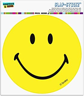 Graphics and More Smiley Smile Happy Yellow Face Automotive Car Window Locker Circle Bumper Sticker