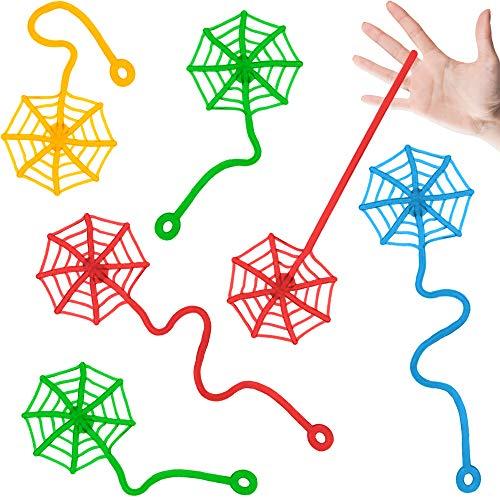 German Trendseller® - 12 x Ultra Sticky - Glibber Klatsch - Spinnennetz für Kinder ┃ NEU ┃ Kindergeburtstag ┃ Mitgebsel ┃ Glibber & Stretchy ┃ 12 Stück