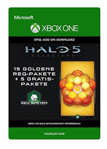 Halo 5: Guardians: 15 Gold REQ Packs + 5 Gratis [Spielerweiterung] [Xbox One - Download Code]
