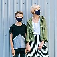 Jago® Mascherine Lavabili - Confezione di 10 Pezzi, per Bambini da 3-8 Anni, Doppio Strato e Tasca per Filtro, Colore a Scelta - Mascherine in Tessuto, Maschera in Cotone, Riutilizzabile (Blu scuro) #8