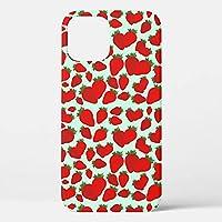 Kanemira イチゴ模様 iPhone12 mini 用ケース iPhone12 mini 用カバー スマホケース スマホカバー iPhone12 mini 専用デザイン TPUケース 5.4インチ
