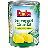 Dole Canned Pineapple Chunks in 100% Fruit Juice, 20 Ounce Can (Pack of 12)