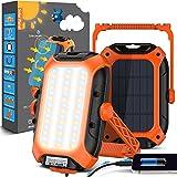 lampada emergenza lampada da lavoro - pannello solare lampada campeggio 9000 mah batteria ricaricabile ultra luminoso led portatile luce ip65 impermeabile per tenda, pesca
