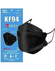 KF94 マスク 10枚/25枚 口紅がつきにくい 息がしやすい 3D立体構造 不織布 個包装 韓国製 黒 【国内検品済み】