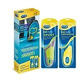 Scholl gel activ, pack de 2 plantillas, uso diario y sport, para hombre, talla 40-46. 5, total 4 plantillas
