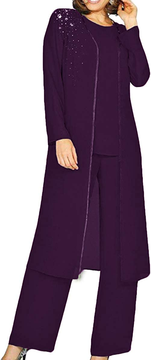 The Peachess Mother Of The Bride Pant Suits With Long Blouse Sequins