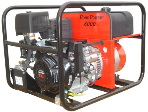 Winco Portable Dual Fuel Generator - 6000 Surge Watts, 5500 Rated Watts, Electric Start, Model Number HPS6000HE