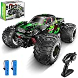 BEZGAR 20 Toy Grade 1:20 Scale Remote Control Car,Top Speed 15 Km/h Electric Toy Off Road RC Monster Vehicle Truck Crawler with Two Rechargeable Batteries for Boys Kids and Adults