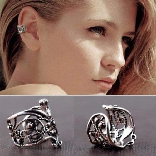 JOY New product! New type Jewelry Vintage Silver NEW before selling ☆ Ear Cuff Wrap Ca Piercing Clip No