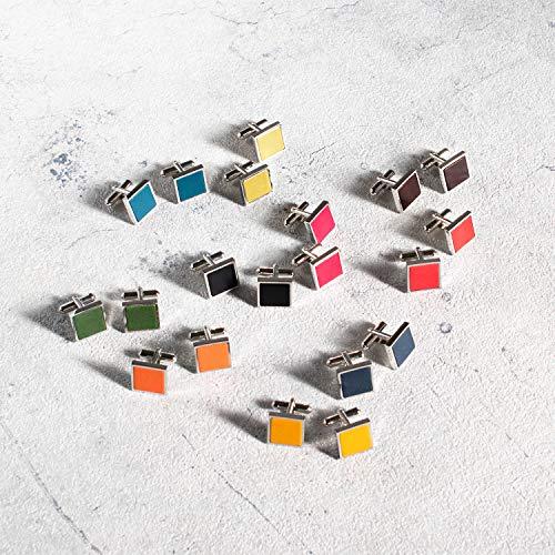 『[タバラット] カフスボタン カフス メンズ 本革 日本製 真鍮 カフリンクス (レッド)』の5枚目の画像