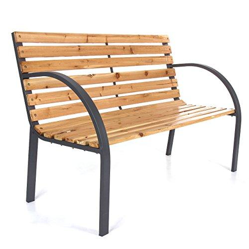 LD tuinbank zitbank tuinmeubelen houten bank parkeerbank hardhout 120cm