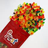FirstChoiceCandy Albanese Mini Gummi Bears Mix 12 Flavor Gummy Cubs 2 Pound Resealable Bag