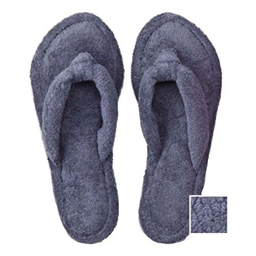 タオル屋さんが作った足指ほどけるタオルスリッパネイビーリラックス歩行音静か洗濯可
