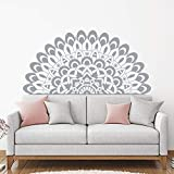 Half Mandala Yoga decoración del dormitorio calcomanía de pared extraíble hogar sala de estar accesorios de decoración pegatina A3 82x42cm