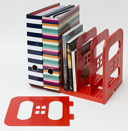 Popinjay MaXi-File Verstellbare Aktenablage aus Plastik (Rot)