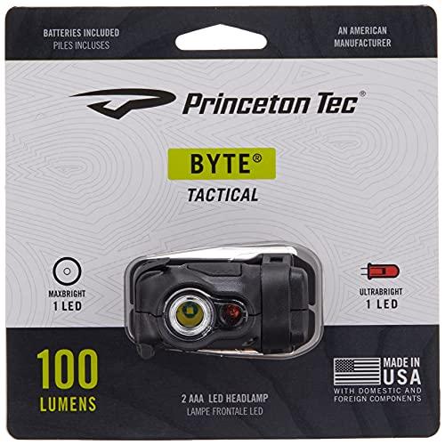 Princeton Tec Lanterna tática Byte (100 lúmens, preta)