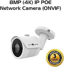 Ares Vision 8MP 4K IP Network POE Bullet CCTV Camera, Sony Lens & Board w/IR Night Vision