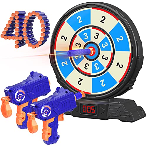 Shooting Game Toy for Kids, Fun Gifts for 5, 6, 7, 8, 9, 10+ Year Old Boys Girls, Scientific Round...