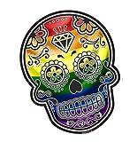 Mexicana Día de los Muertos Azúcar Calavera Orgullo Gay Lbgt Bandera Del Arco Iris Impreso Vinilo Coche Moto Pegatina 120x90mm Apróx