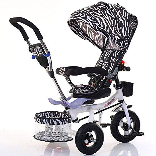 Peaceip Kinderdriewieler Opvouwbare Fiets Baby Voet Kinderwagen 1-6 Jaar Oude Titanium Lege Wiel Kleur