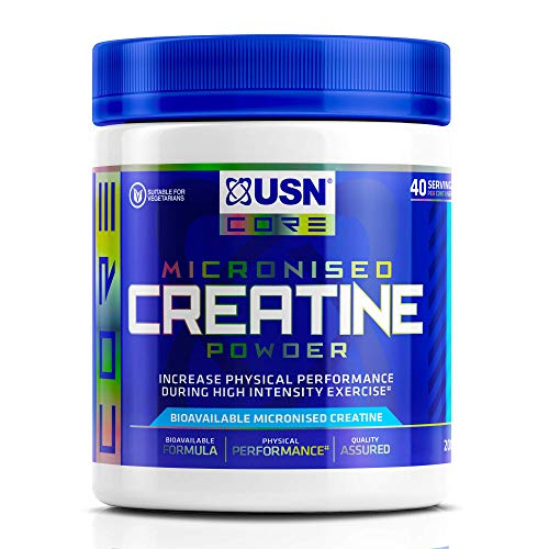 USN Micronized Creatine Monohydrate Powder 200 g: Energy Boosting Pre Train and Recovery Powder