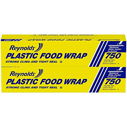 Reynolds Foodservice Plastic Wrap, 750 Square Feet, 740 Sq Ft (Pack of 2)