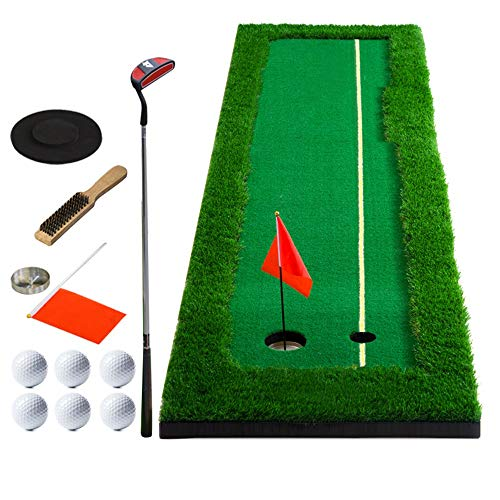 For Sale! Durable Golf Indoor Green Practice Golf Putting Exerciser Golf Putting Green Artificial Tu...