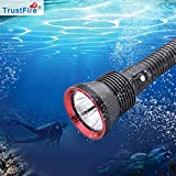 TrustFire 水中ライト 超高輝度 3200ルーメン ダイビング 用懐中電灯 Cree XHP70搭載 ダイビングライト 水中70Mまで使用可 4段階切替 2*26650 5000mAh 電池付き 充電器付き 防災/登山/釣り/夜間作業/キャンプ/などに適用