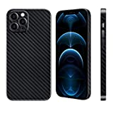 Carbon Fiber Texture Phone Case for iPhone 12 Pro Max 6.7', Lightweight Slim Protective Cover 7g & 0.4mm Compatible with Apple iPhone 12 Pro Max, Black