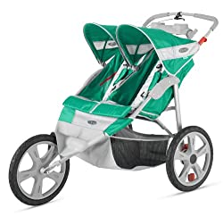 InStep Flash Fixed Wheel Double stroller for Infants and Toddlers