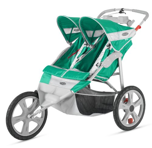 Instep Flash Double Stroller, Green/Gray