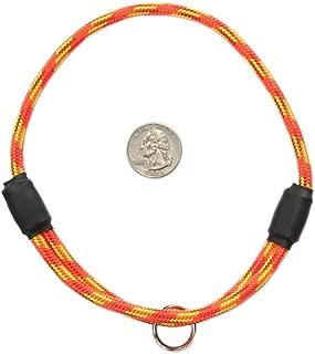 National Leash Thin Mountain Rope Dog ID Collar- Firecracker - Medium Size- The Original Snickers Collar