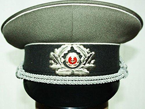 LAGERMAULWURF.de NVA Schirmmütze Offizier Gr.56 Mütze Uniform Fasching Karneval Halloween