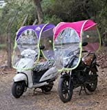 Shiv sati creation Bike and Scooter Umbrella Canopy ,Fold Away Sun Shade and Rain Coat Waterproof Motorcycle Scooter Moped Cover(Assorted Colour)