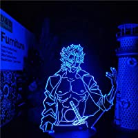 Bleach Grimmjow Acrylic 3D Lamp Anime LED Night Light for Home Decoartive Lampara Bedroom Decor Illusion Table Light Child Gifts-リモコン
