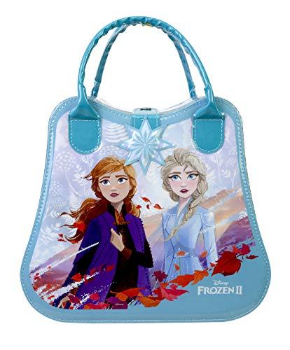 Disney Princess Frozen II Wonderland Weekender - Neceser Frozen II, Set de Maquillaje para Niñas - Maquillaje Frozen - Selección de Productos Seguros en un Maletín de Maquillaje Multicolor