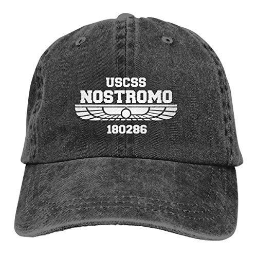Vbfgtg USCSS Nostromo Denim Hats Washed Retro Baseball Cap Dad Hat
