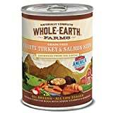 Whole Earth Farms Grain Free All Breed All Life Stages Wet Dog Food Hearty Turkey & Salmon Stew (12) 12.7 oz Cans