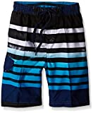 Kanu Surf Boys' Big Quick Dry UPF 50+ Beach Swim Trunk, Reflection Navy, 10/12