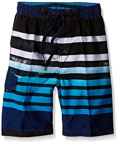 Kanu Surf Boys' Big Quick Dry UPF 50+ Beach Swim Trunk, Reflection Navy, 10/12